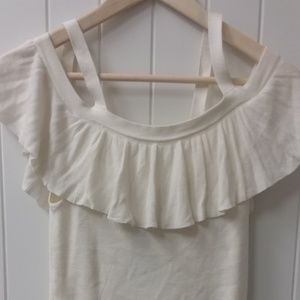 Express Tank Cold/ Off Shoulder Ruffle Top NWT